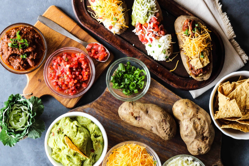 Delicious Made Easy's baked potato bar, from Fun Cheap or Free