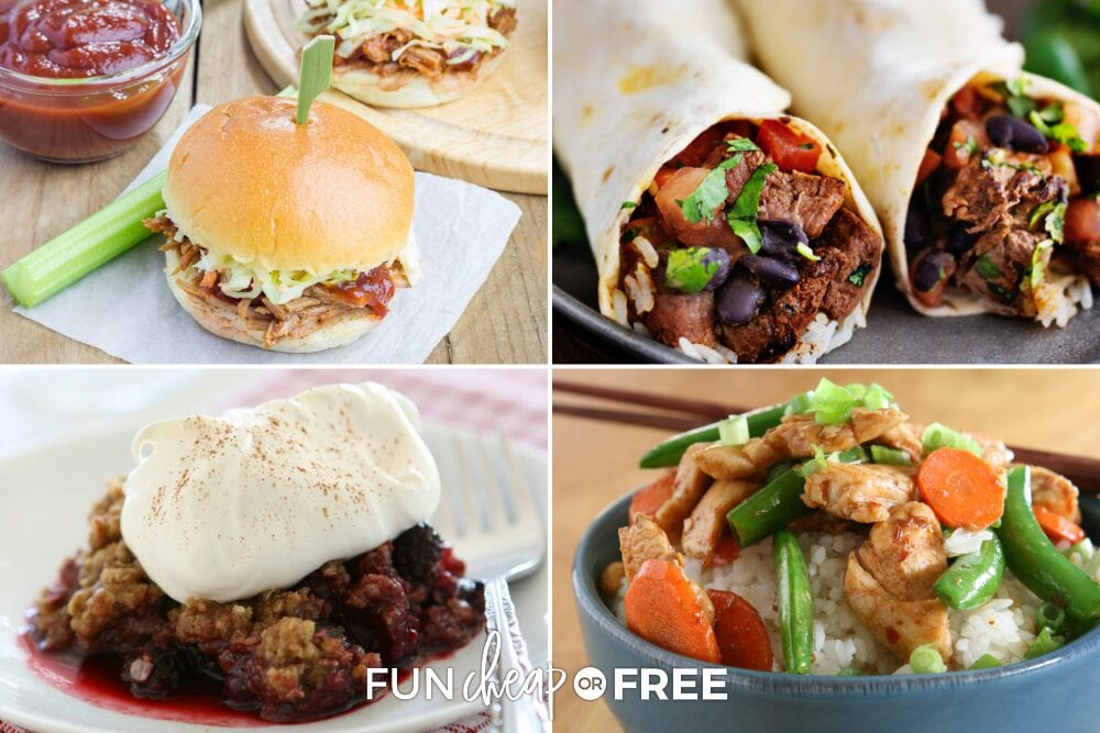 You are going to love this quick and easy slow cooker recipes ebook! Ideas from Fun Cheap or Free