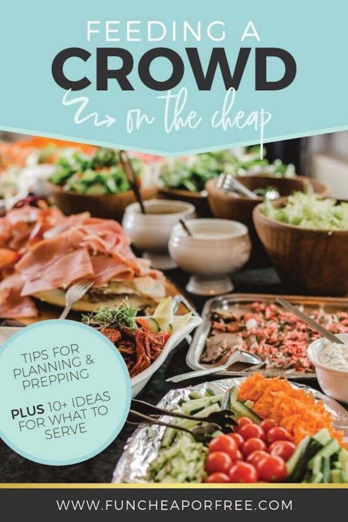 Party food ideas on a table, from Fun Cheap or Free