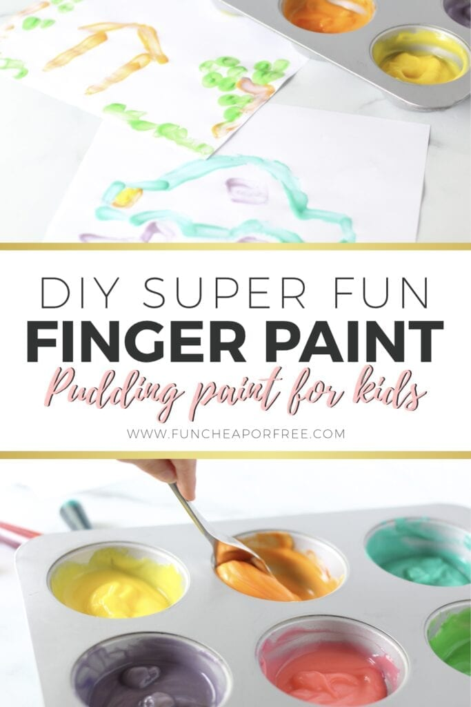 Make this fun activity for kids made out of pudding! Ideas from Fun Cheap or Free