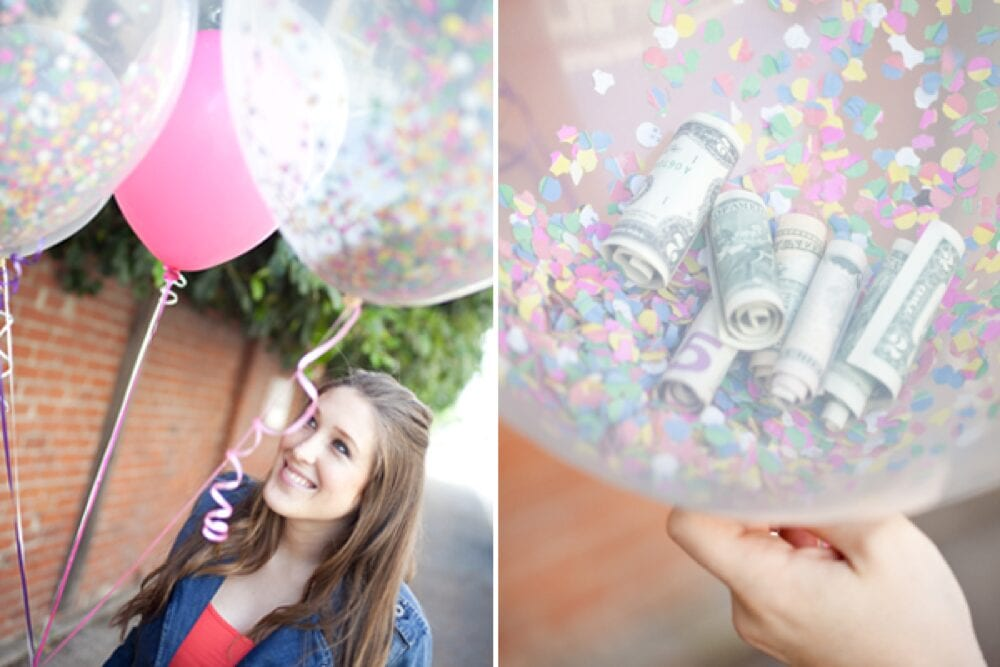 Sugar and Charm has a super cute way for giving cash as a gift - Ideas from Fun Cheap or Free
