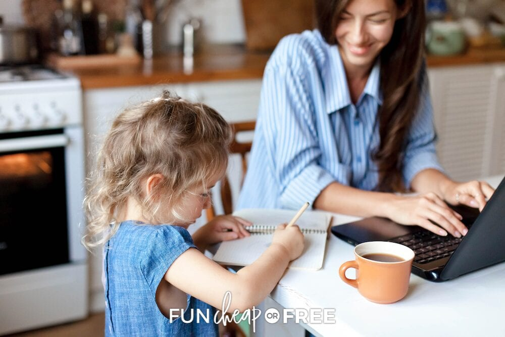 Multitasking is the perfect way for the busy mom to get 2 mindless tasks done at once! Boost your productivity with these tips from Fun Cheap or Free!