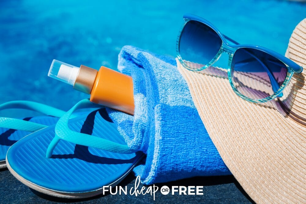 Don't forget the summer essentials for both Mom and kids! Ideas from Fun Cheap or Free