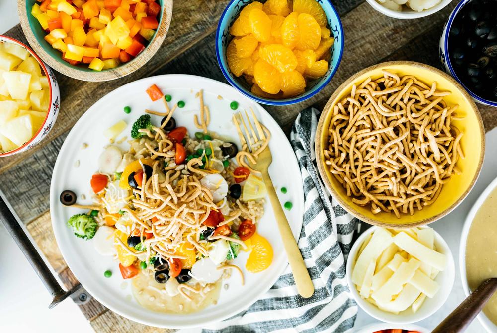 Clean Eats and Treats hawaiian haystacks, from Fun Cheap or Free