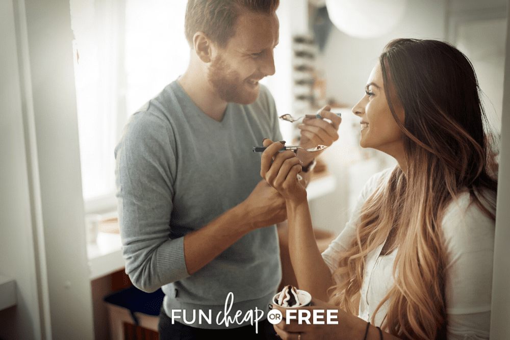 at home ice cream date, from Fun Cheap or Free
