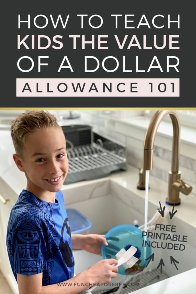 """Image with text that reads """"allowance 101"""" from Fun Cheap or Free"""