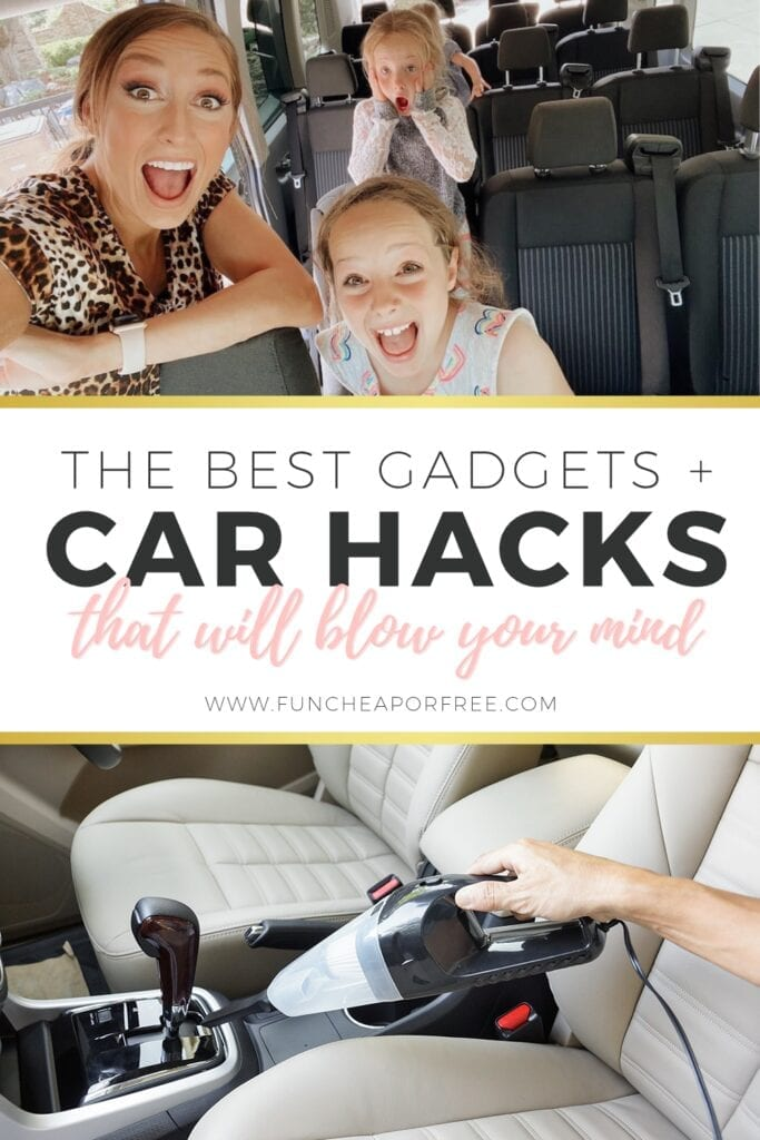 "Image with text that reads ""the best gadgets + car hacks"" from Fun Cheap or Free"