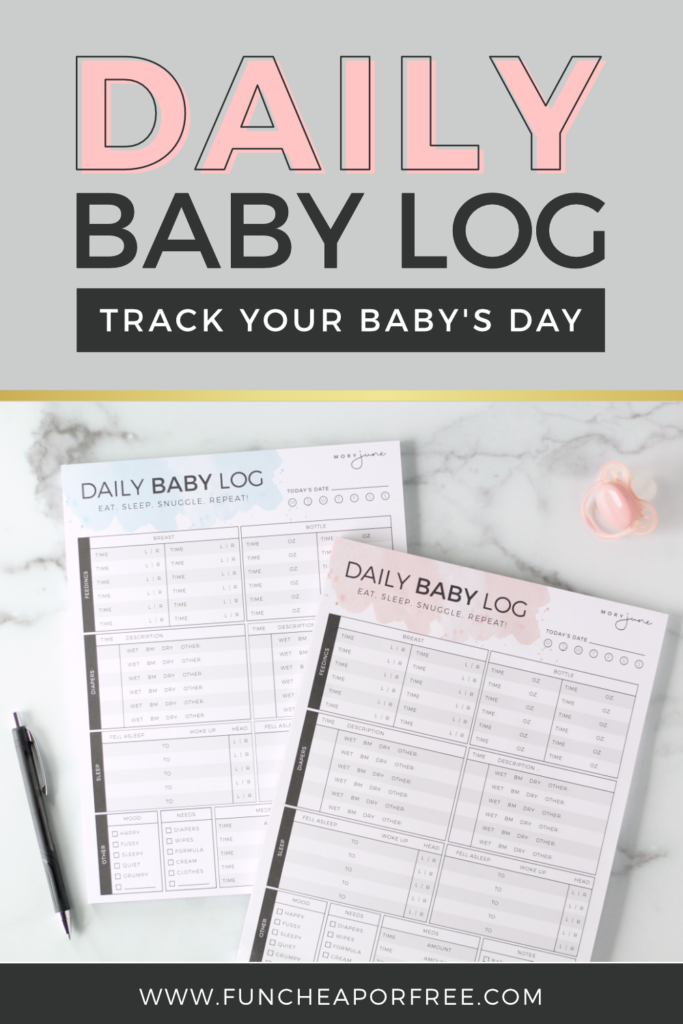 A daily baby log to easily track your baby's day - Fun Cheap or Free