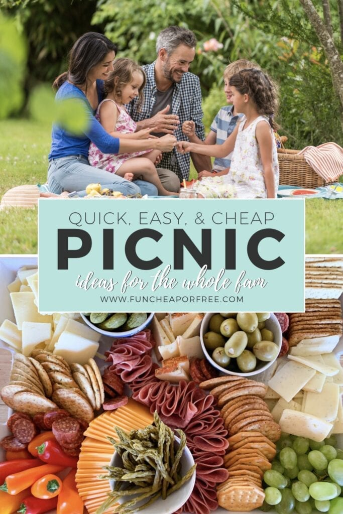 Quick, easy and cheap picnic ideas for the whole family from Fun Cheap or Free!