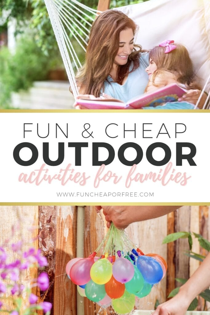 Fun and cheap outdoor activities for families from Fun Cheap or Free
