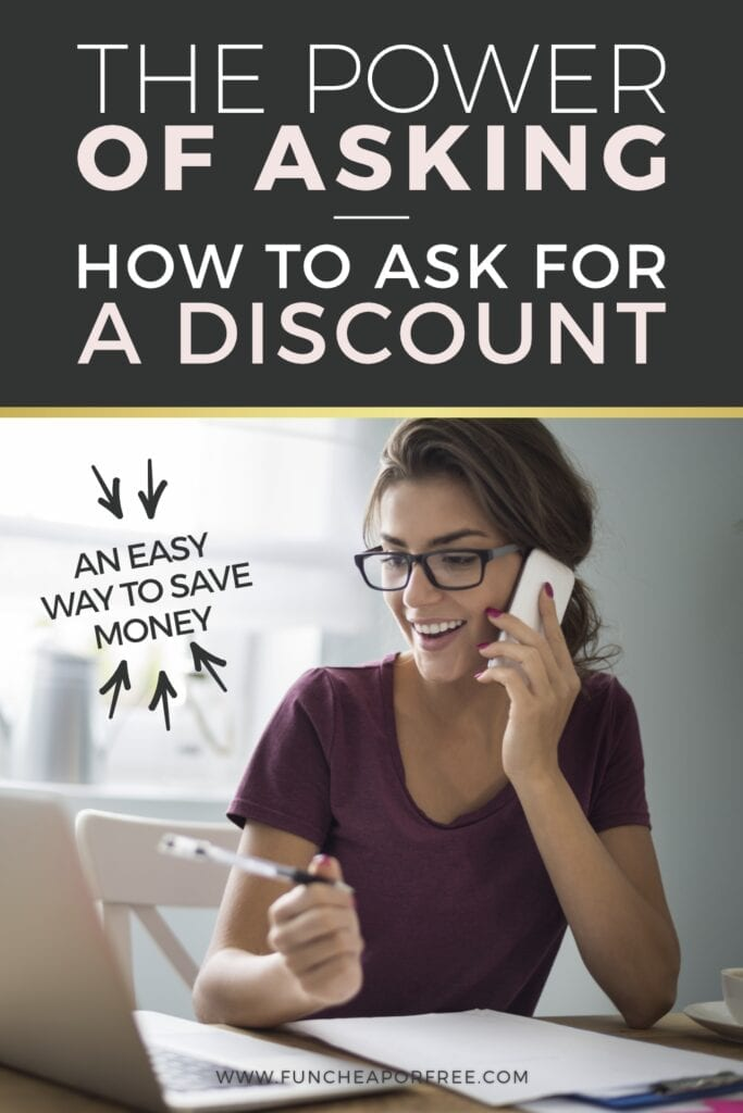 The power of asking - How to ask for a discount from Fun Cheap or Free
