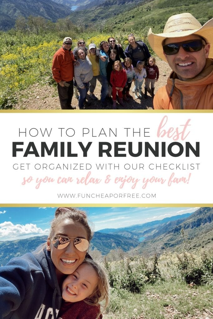 How to plan the best family reunion by getting organized with our checklist from Fun Cheap or Free so you can relax and enjoy your family!