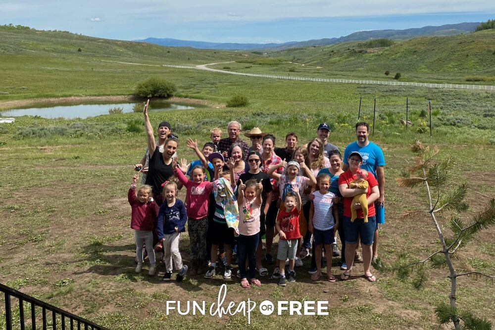 Page family reunion group picture, from Fun Cheap or Free