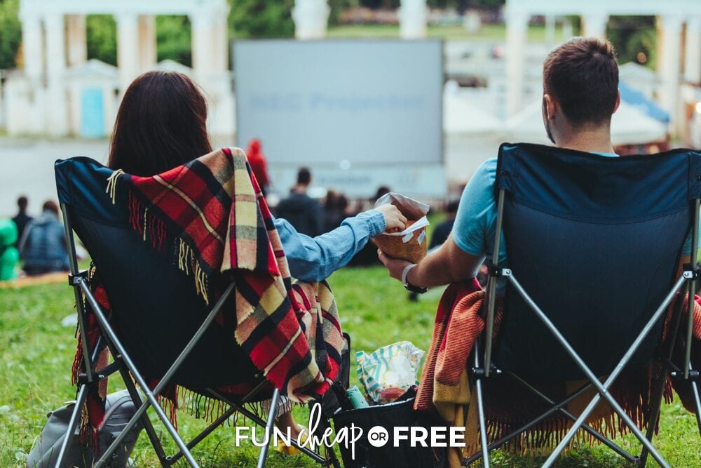 Couple on a date night at the park, from Fun Cheap or Free