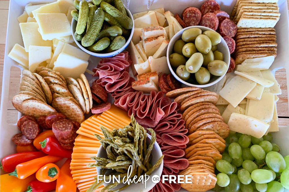 A charcuterie board is the perfect meal to pack! Picnic food ideas from Fun Cheap or Free