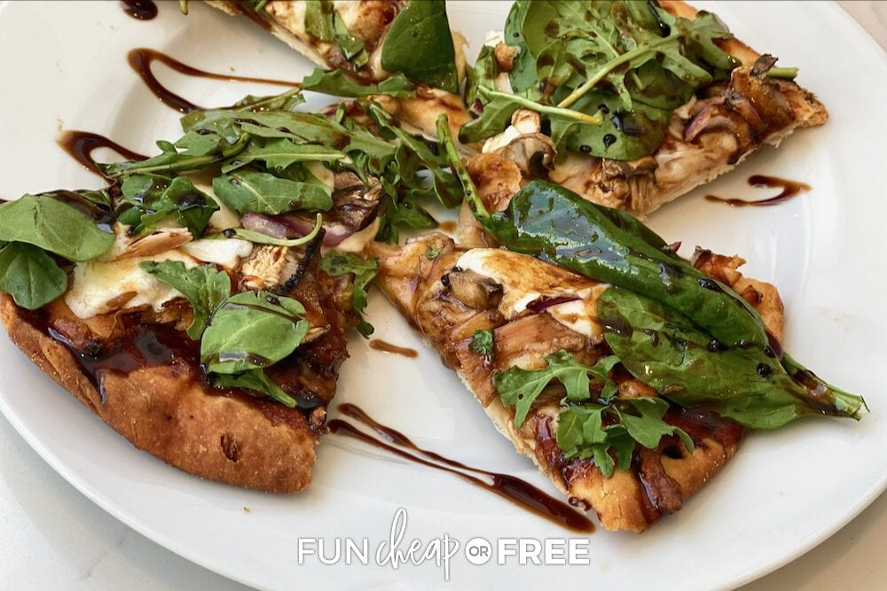 Homemade pizza on a plate, from Fun Cheap or Free