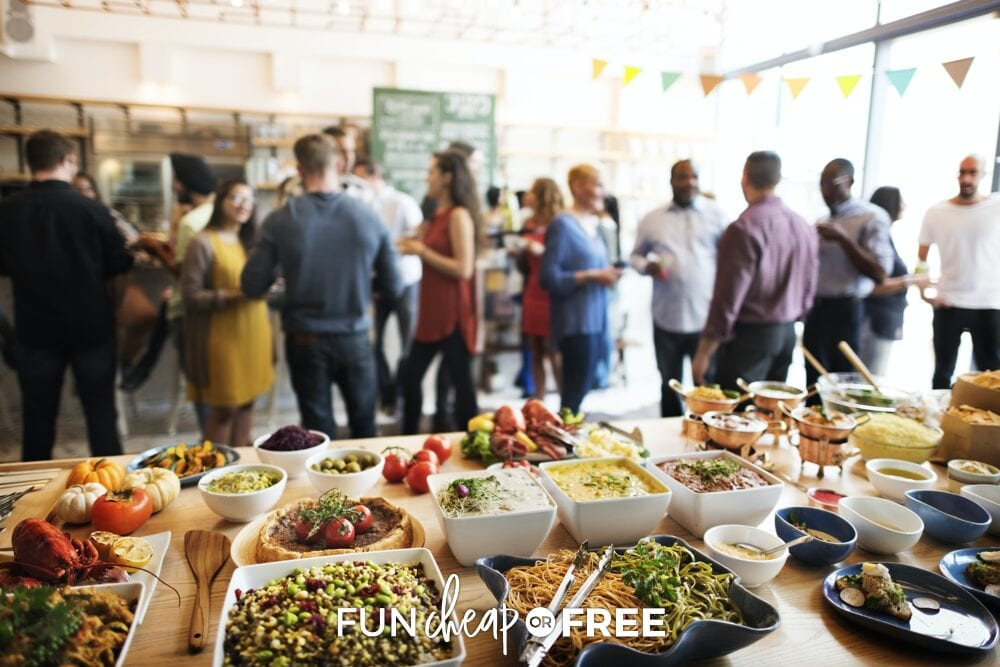 Share the food planning and buying load with the other families at the reunion - Tips on planning a family reunion from Fun Cheap or Free