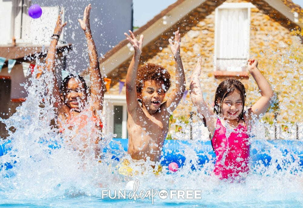 Kids have so much fun playing with water, whether they're in the pool or washing their toys in the sink! Fun Cheap or Free