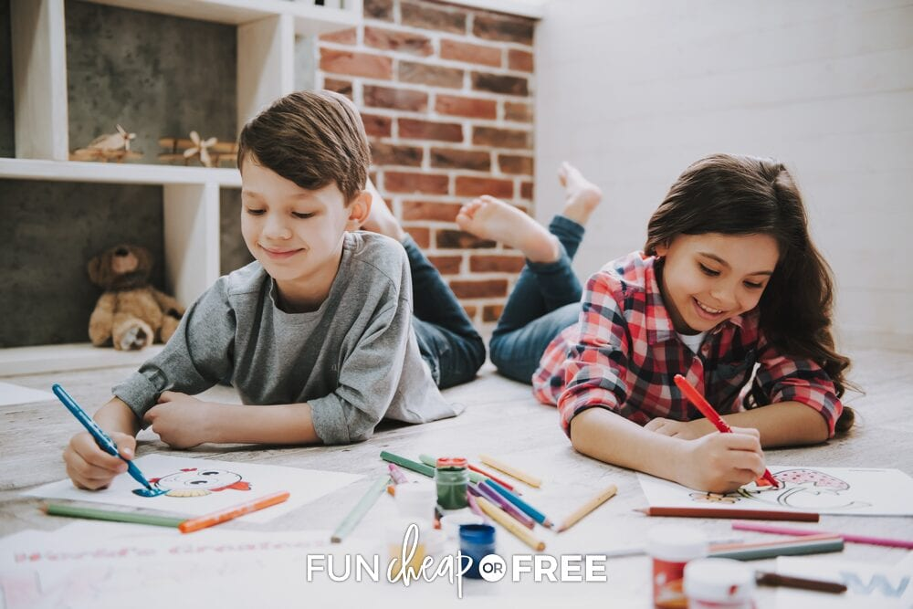 Here is your ultimate list of activities for kids at home from Fun Cheap or Free!