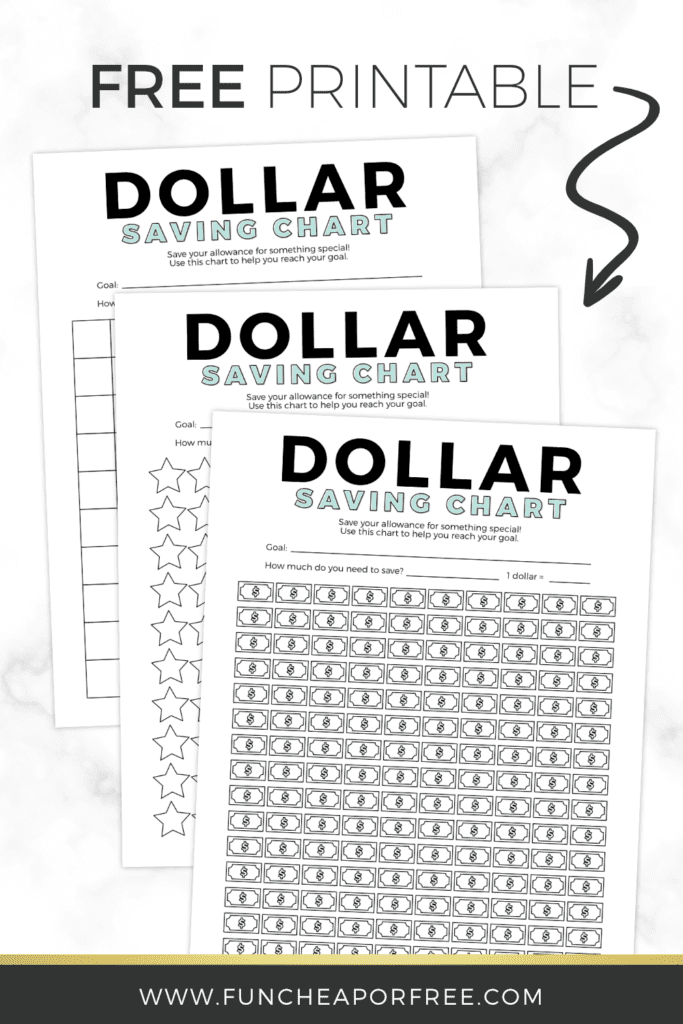 Printable allowance tracker from Fun Cheap or Free