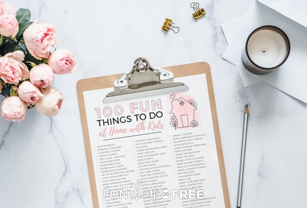 Free printables with activities for kids at home from Fun Cheap or Free!