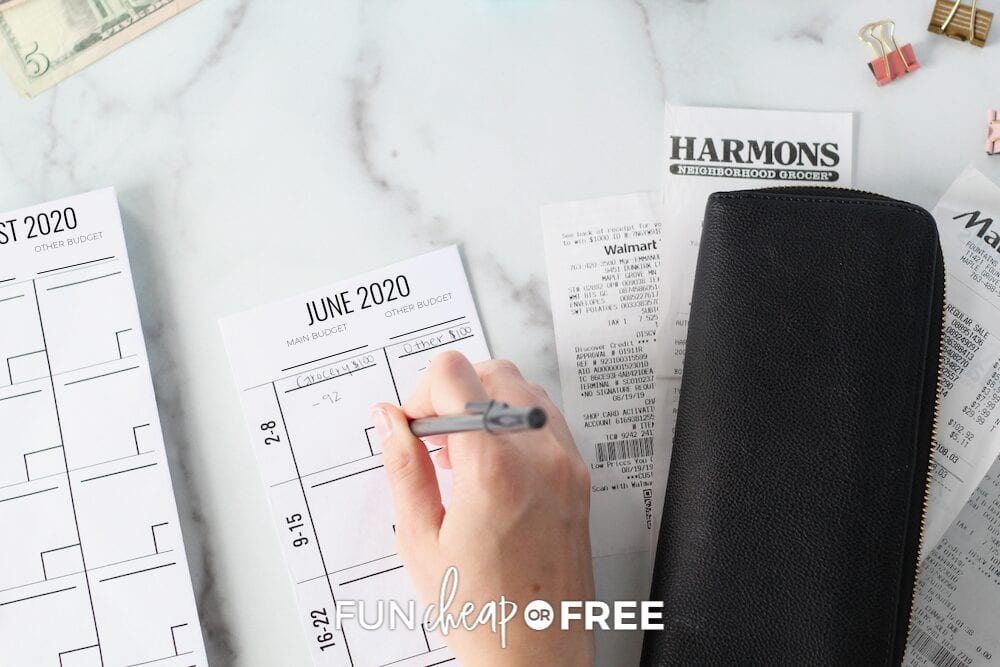 budget envelopes for an outdoor party, from Fun Cheap or Free