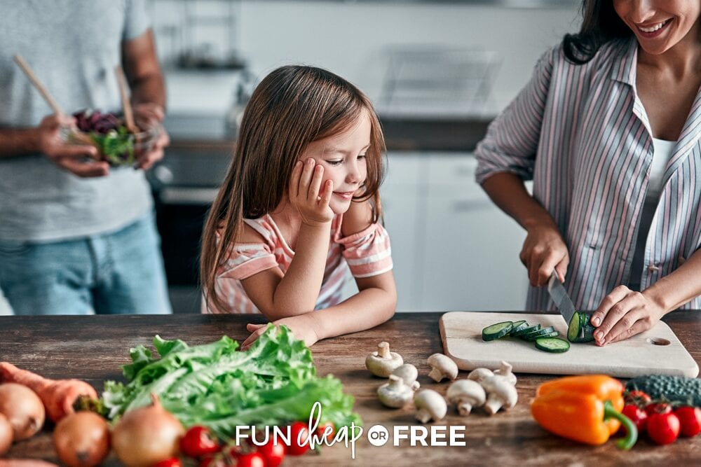 An at-home cooking class is always a good way for kids and teens to learn those important life skills - Activities for kids at home from Fun Cheap or Free