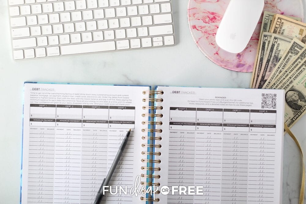 Using a Budget Planner to keep track of your debts, from Fun Cheap or Free