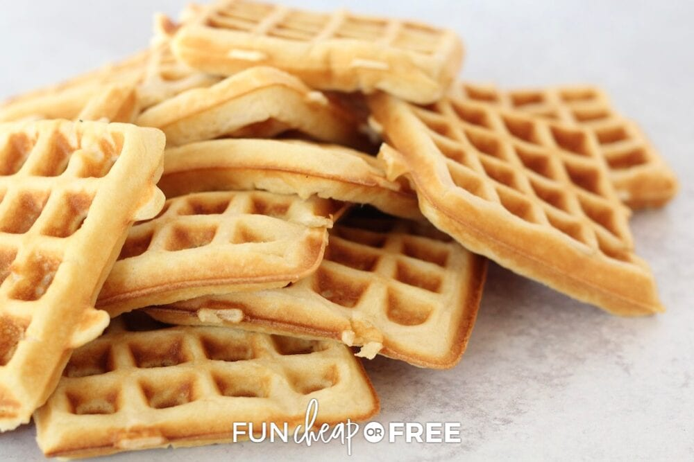 Waffles can easily be frozen ahead of time for transport for your destination. From Fun Cheap or Free