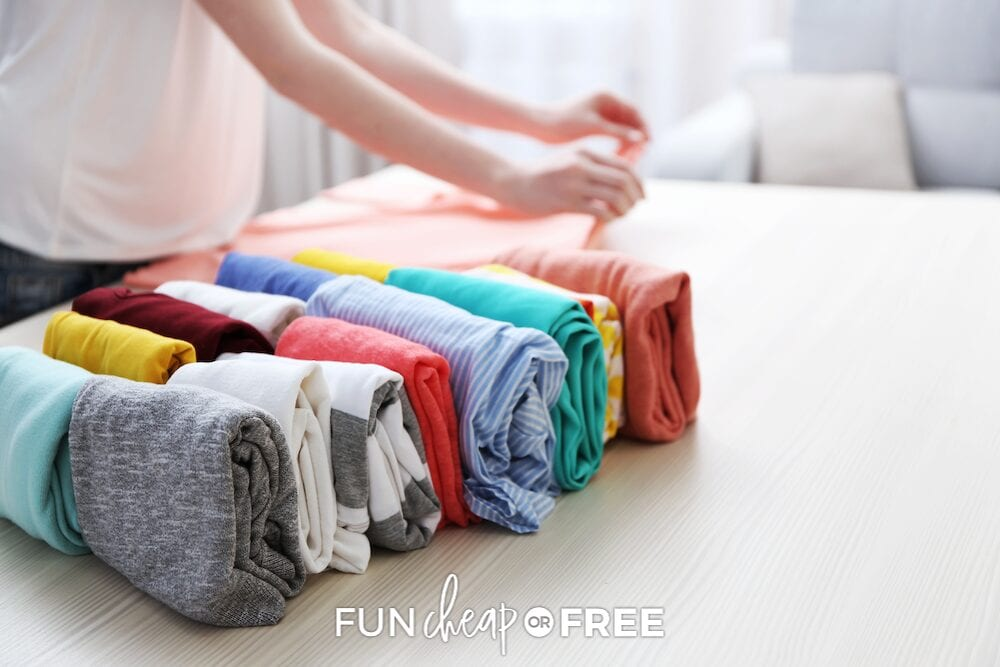 Organize and rotate out kids' clothing at the beginning of every season. From Fun Cheap or Free