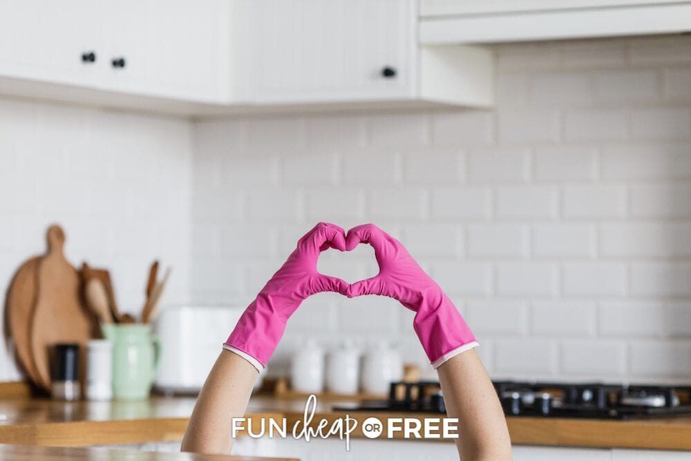 hands making a heart in the kitchen, from Fun Cheap or Free