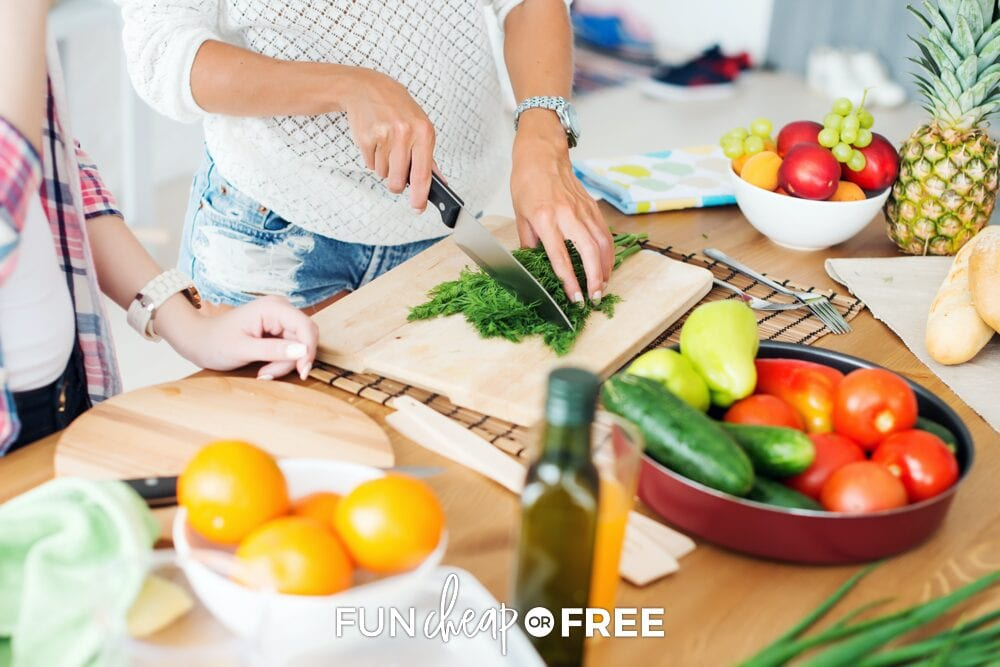 Figure out your meals and do any make-ahead meals that you can to make your week run smoother - Tips from Fun Cheap or Free