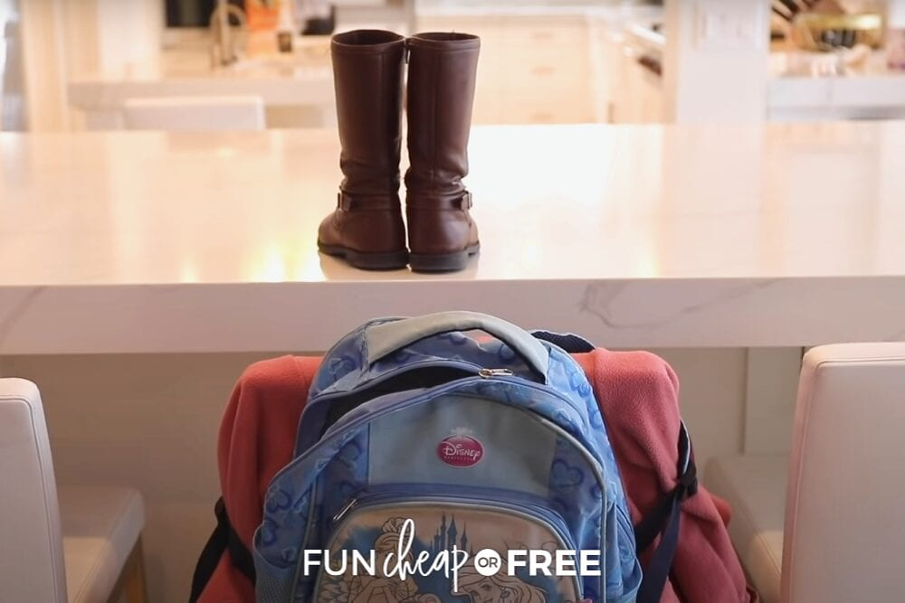 Nighttime routine hacks include setting out backpacks and shoes ahead of time to avoid the morning rush. From Fun Cheap or Free