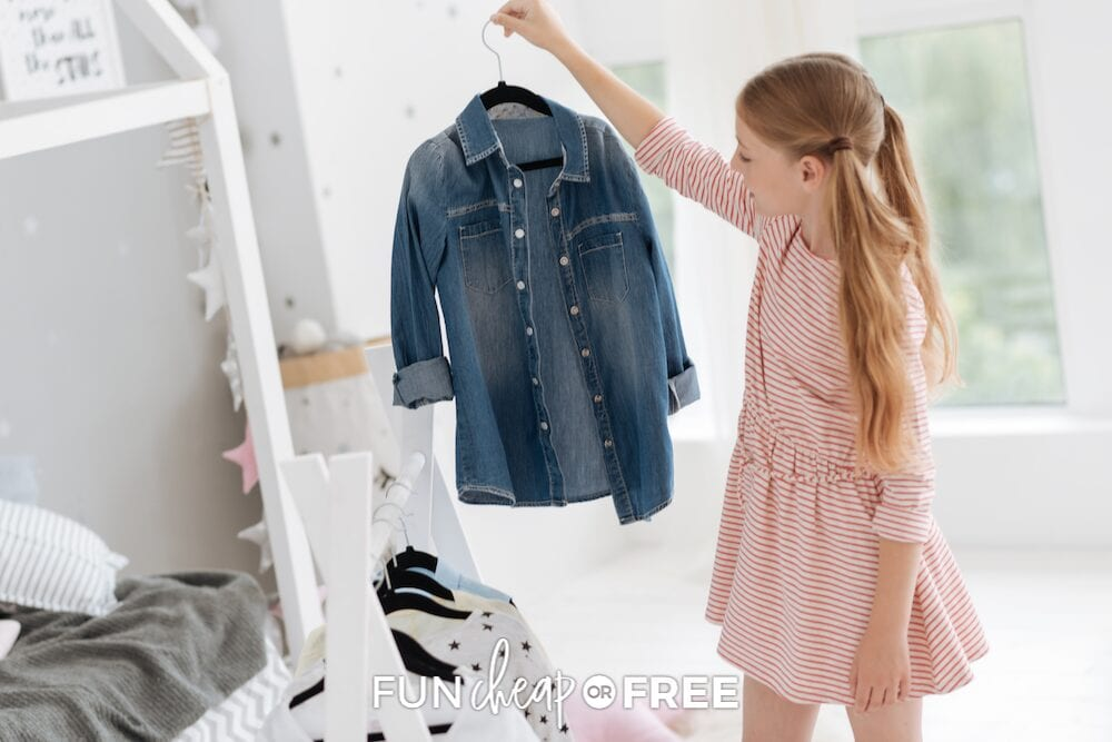 Keep track of kids' clothing by getting rid of what isn't being used; then sort, scale down, and enjoy the savings! From Fun Cheap or Free