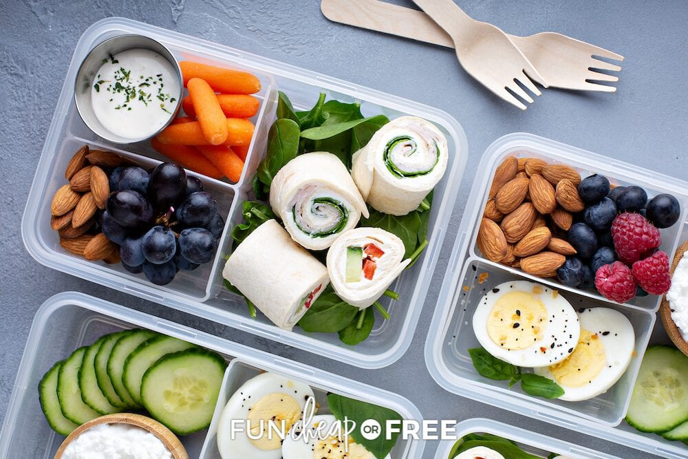 Bento makes a great on-the-go lunch option, and it's easy to personalize to individual tastes. From Fun Cheap or Free