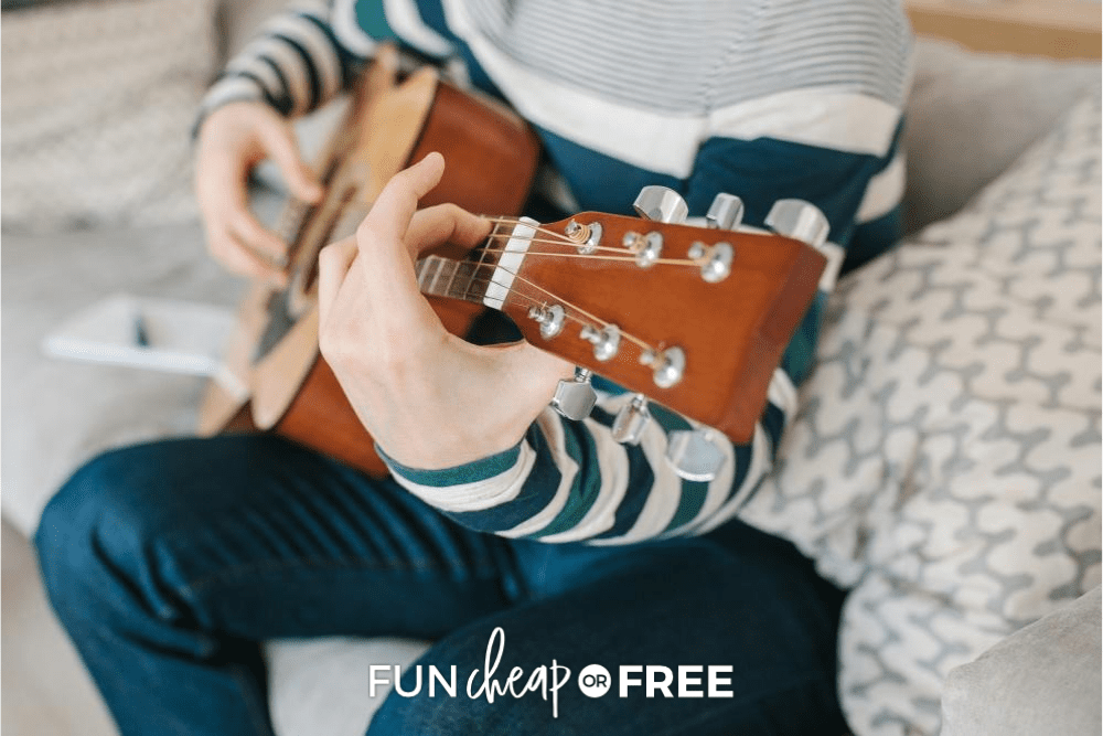 Person playing guitar, from Fun Cheap or Free