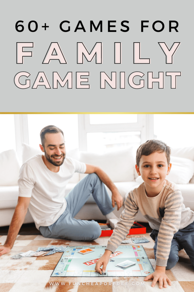 Family playing a game on the floor, from Fun Cheap or Free