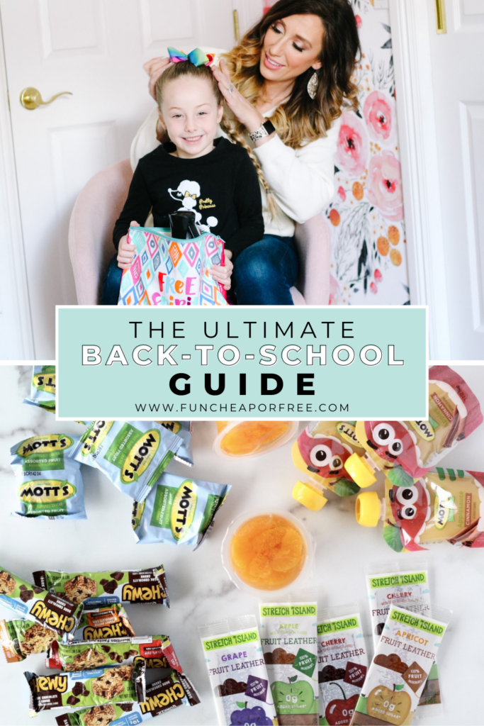 Back-to-school guide from Fun Cheap or Free