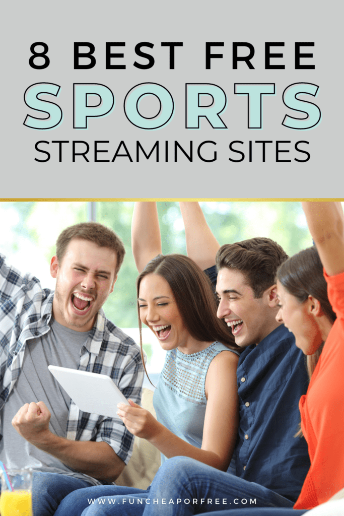 Friends watching sports on tablet and cheering, from Fun Cheap or Free