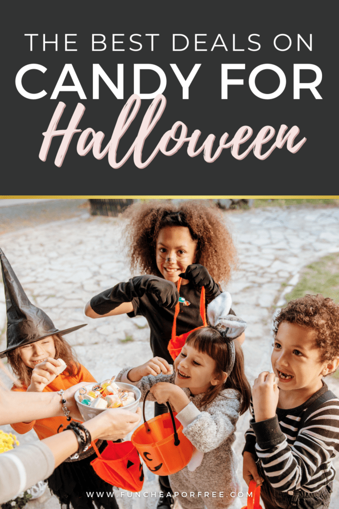 "Image with text that reads ""the best deals on Halloween candy"" from Fun Cheap or Free"