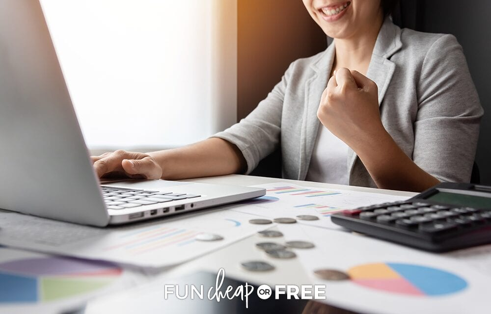 Woman excited about not filing bankruptcy, from Fun Cheap or Free
