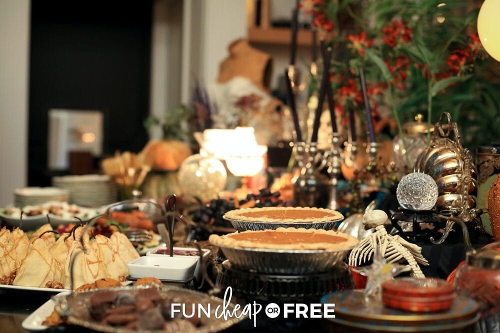 Table with various desserts, from Fun Cheap or Free