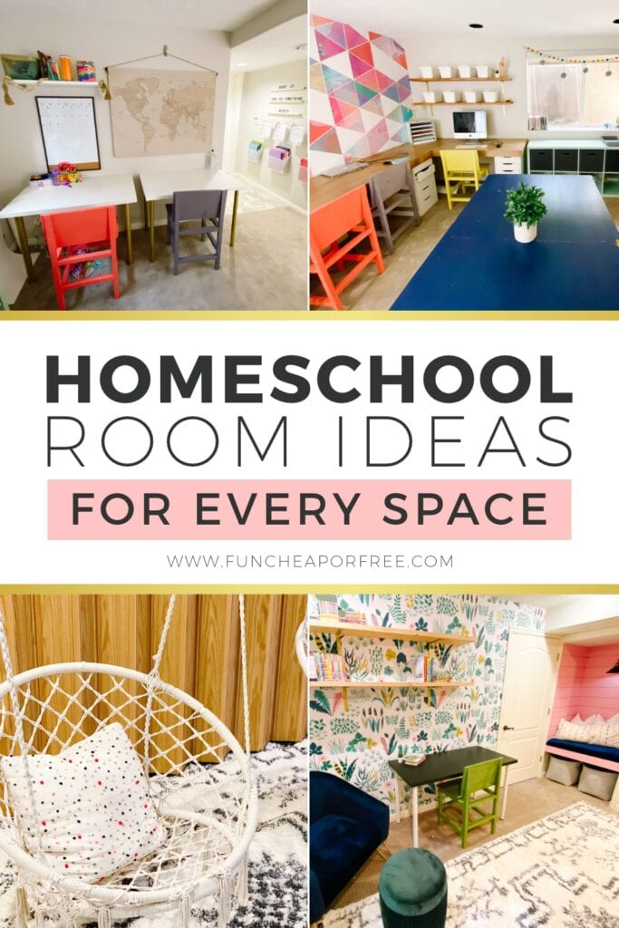 Different homeschool rooms ideas to make any space work, from Fun Cheap or Free