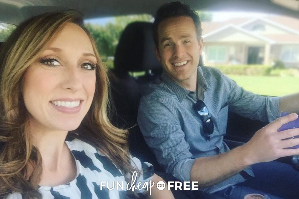 Jordan and Bubba in the car going on a money date, from Fun Cheap or Free