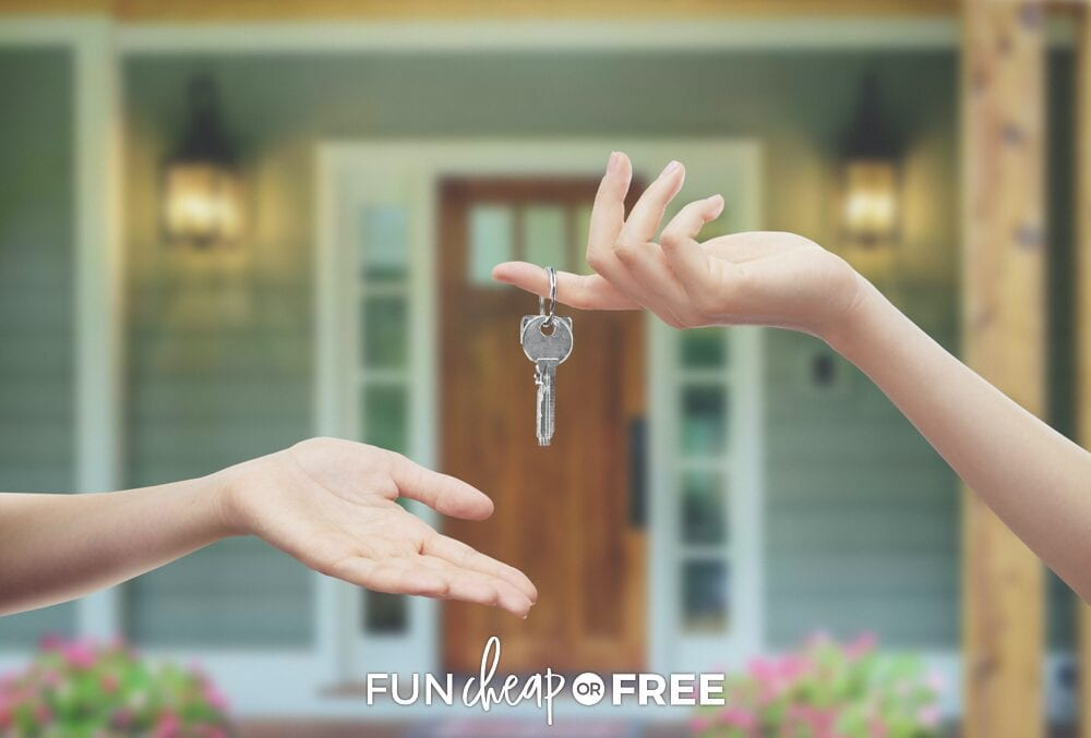 Handing keys over to house, from Fun Cheap or Free
