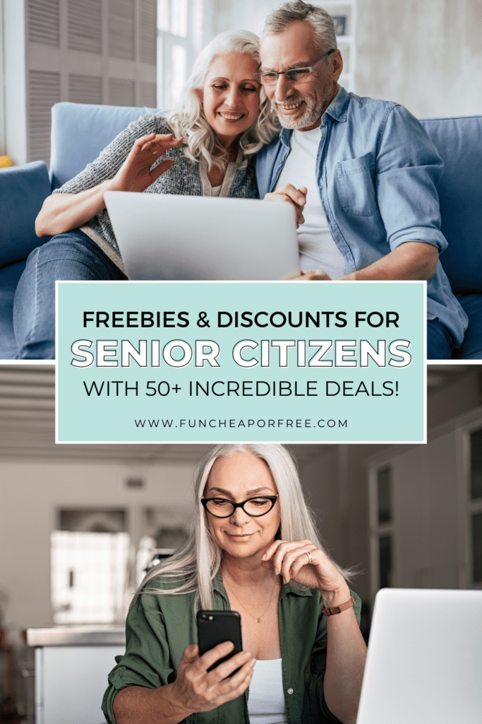 Senior citizens looking for deals, from Fun Cheap or Free