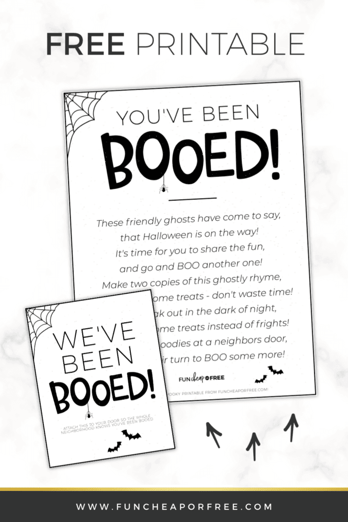 Image of You've Been Booed printable, from Fun Cheap or Free
