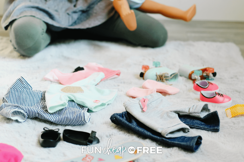 doll clothes on the floor, from Fun Cheap or Free
