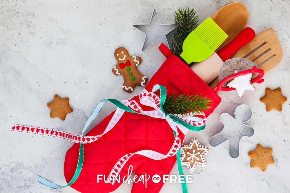 Christmas cooking utensils, from Fun Cheap or Free
