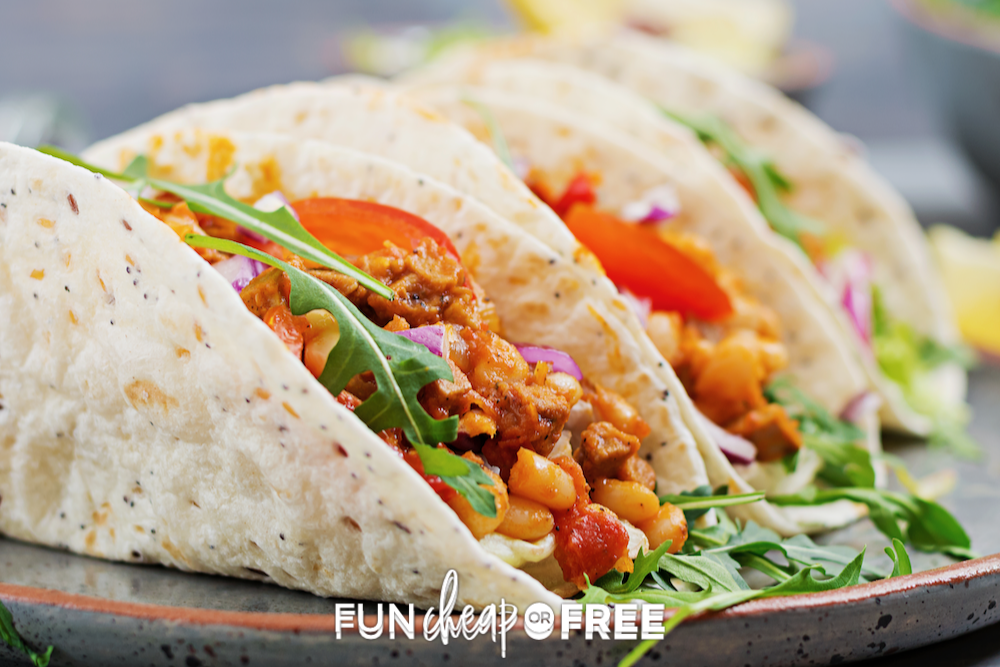 plate of tacos, from Fun Cheap or Free